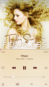 Fifteen by Taylor Swift on Fearless album